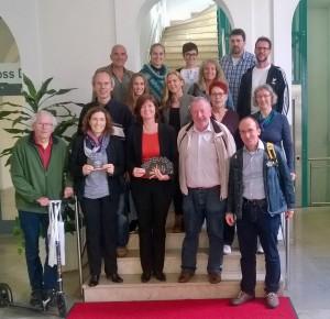 Grüne Delegation im Cafe Blind Date Würzburg